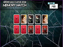 玩免费游戏 Spider-man 3 Memory Match
