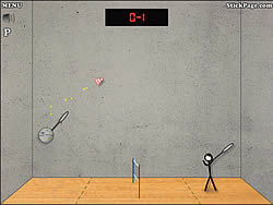 玩免费游戏 Stick Figure Badminton