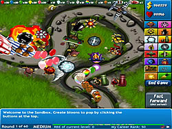 玩免费游戏 Bloons Tower Defense 4