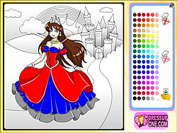 เล่นเกมฟรี Castle Of Princess Coloring Game