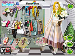 Juega al juego gratis Flower Store Girl Dress Up