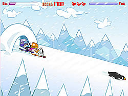 Hi Hi Puppy Ami Yumi - Snow Scooter game
