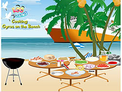 Cooking Gyros on The Beach game