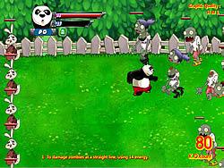 Gioca gratuitamente a Panda vs Zombies
