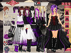 Goth Bride Dress Up game