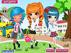 Cutie Trend School Girl Group Dress Up لعبة