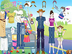 Happy Days Dress-up game