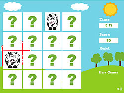Farm Animals Memory Game game