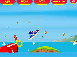 Super Sonic Ski spel