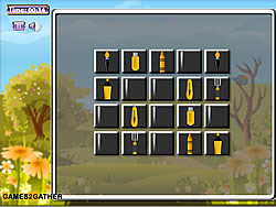 Yellow Tools Memory Match game