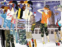 שחקו במשחק בחינם Fashion Army Skirts