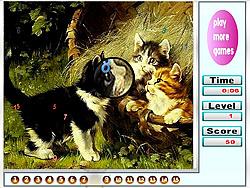 玩免费游戏 Naughty Cats Hidden Numbers