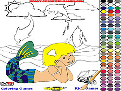 Mermaid Coloring spel