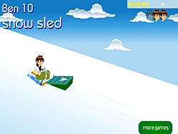 Ben 10 Snow Sled