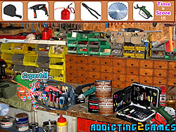 jeu Workshop Tool Room Hidden Objects