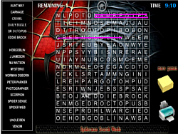 Spiderman Search Words
