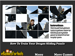 無料ゲームのHow To Train Your Dragon Sliding Puzzleをプレイ
