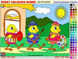 Играть бесплатно в игру Coloring Easter Chicks - Rossy Coloring Games