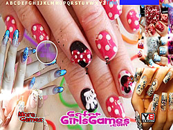 Beautiful Girl Nails Design Hidden Letters game