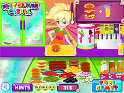 Pollys Burger Cafe game