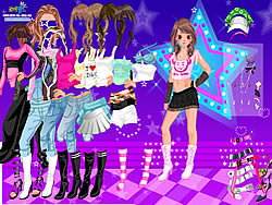 Gioca gratuitamente a Dancing Star Dress up