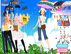 Gioca gratuitamente a Spring Rain Dress up