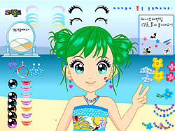 Gioca gratuitamente a Happy Beach Make up