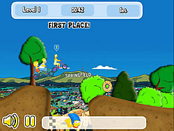 Simpson's Bike Rally spel