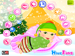 Infant Christmas Dressup game