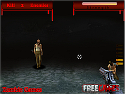 Zombie attack in Hell game
