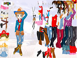 Gioca gratuitamente a Cowgirl Dress Up