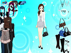 Black and White Dressup game