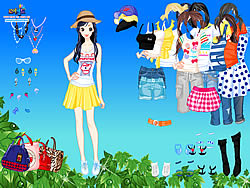 Juego Spring Leaves Dressup