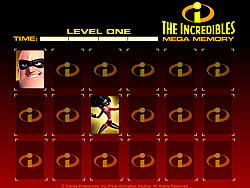 The Incredibles Mega Memory game