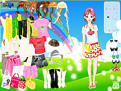 Rainbow Style Dress Up game