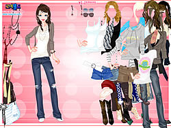 Karine Dressup game