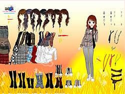 Gioca gratuitamente a Cornfield Dress Up