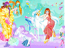 Fairy and the Unicorn Dressup game