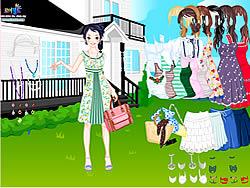 เล่นเกมฟรี Summer Garden Dress Up