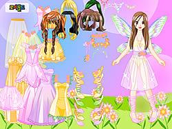 無料ゲームのPink Fairy Dressupをプレイ