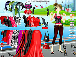 Juega al juego gratis Blank and Red Dressup