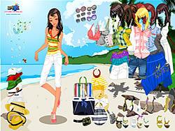 Celeste Beach Dressup game