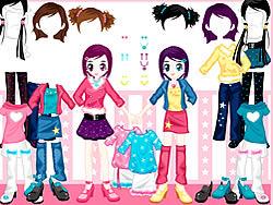 Gioca gratuitamente a Little Twin Dress up
