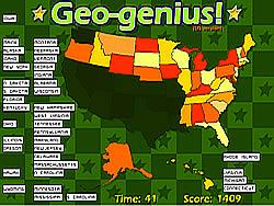 เล่นเกมฟรี GeoGenius USA
