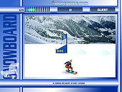 Gioca gratuitamente a Snowboard Slalom