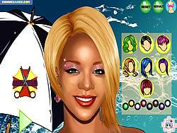 Играть бесплатно в игру Rihanna Makeover