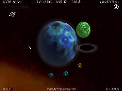 Galactic Gravity Golf game
