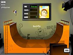 Играть бесплатно в игру Half Pipe Skateboarding