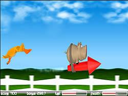 Pig on the Rocket game