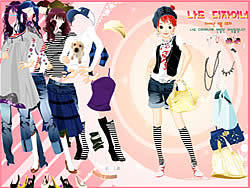 -= Dress Up Sporty Girl game
